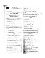 Các dạng bài tập ôn thi đại học môn vật lý