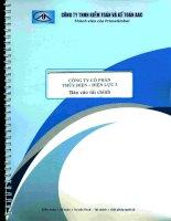 công ty cổ phần thủy điện điện lực 3 báo cáo tài chính cho kỳ kế toán 6 tháng đầu năm 2014