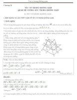 Các dạng toán thường gặp về vec to trong không gian của thầy Nguyễn Đình Sỹ