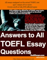 Sample essays for the TOEFL Writing Test