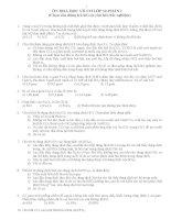 trắc nghiệm ôn hóa học vô cơ 12 phần 1 có đáp án