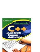 Giáo trình C++ và lập trình hướng đối tượng
