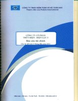 công ty cổ phần thủy điện điện lực 3 báo cáo tài chính cho kỳ kế toán 6 tháng đầu năm 2011