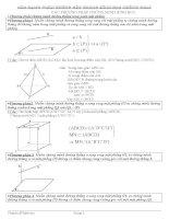Phương pháp chứng minh hình học không gian lớp 11