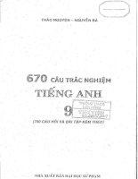 Bài tập tiếng anh 9 Thảo Nguyên, Nguyễn Bá Full