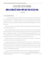 SKKN rèn luyện kĩ năng viết bài văn tự sự cho học sinh lớp 9