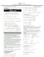 Bộ tài liệu ôn thi đại học - chuyên đề phương trình, bất phương trình vô tỷ