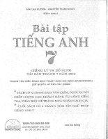 Bài tập tiếng anh 7 Mai Lan Hương, Nguyễn Thanh Loan Full
