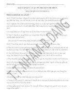 Bài tập các quy luật Menđen có đầy đủ các dạng