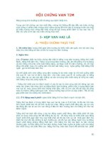 HỘI CHỨNG VAN TIM : HẸP HỞ VAN 2, 3 LÁ