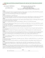 Tuyển tập các đề thi học sinh giỏi olympic môn sinh học lớp 10 ( kèm đáp án chi tiết)