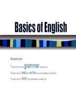English grammar refresher course