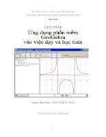 giải pháp ứng dụng phần mềm geogebra vào việc dạy và học tóan