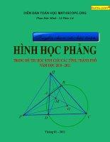 tuyển chọn các bài toán hay về hình học phẳng có lời giải hướng dẫn (tài liệu free)