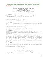 Tuyển tập các đề thi học sinh giỏi toán lớp 11 (có đáp án chi tiết)   phần 2