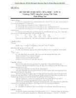 Tuyển tập các đề thi olympic hóa học lớp 11 (kèm đáp án chi tiết)