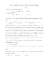 một số đề thi học sinh giỏi olimpic lớp 9 hóa học