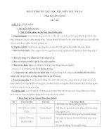 đề cương ôn tập văn học lớp 7 tham khảo