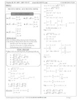Chuyên đề phương trình bất phương trình hệ phương trình vô tỷ