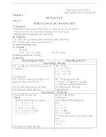 giáo án tự chọn toán 6 học kì 2