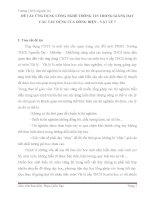 Ứng dụng CNTT vào trong dạy học phần Điện học - Vật lý 7