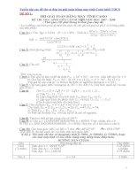 Tuyển tập các đề thi và đáp án giải toán bằng máy tính casio khối THCS
