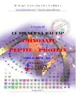 lý thuyết và bài tập aminoaxit peptit - protein hóa học 12