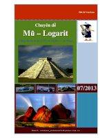 Chuyên đề phương trình bất phương trình hệ phương trình mũ và loagarit