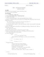 Giáo án bồi dưỡng học sinh giỏi môn tiếng anh lớp 8 (cực hay)