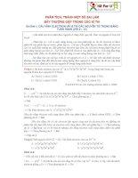 phân tích , tránh 1 số sai lầm Bẫy trong đề thi đại học môn hóa