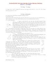 Tài liệu BD HSG vật lý lớp 9 toàn tập ( cơ học, điện học, nhiệt học)