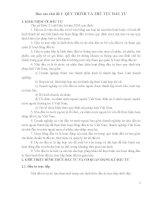 Báo cáo chủ đề QUY TRÌNH VÀ THỦ TỤC ĐẦU TƯ