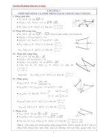Tài liệu bồi dưỡng hình học 11 (hay)