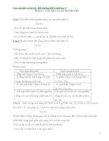 Các câu hỏi và trả lời  tài liệu bồi dưỡng HSG sinh hoc 9