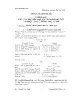 Các dạng bài tập cơ bản và nâng cao môn  hóa lớp 8