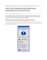 Cách vào facebook sử dụng easy facebook for you 5 5 final