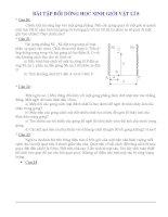 Tài liệu bồi dưỡng HSG vật lý  8