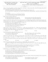 tuyển tập 12 đề THI THỬ TUYỂN SINH đại học năm 2013 bộ GIÁO dục và đào tạo cục KHẢO THÍ và KĐCL