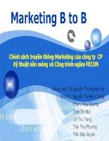 Chính sách truyền thông Marketing của công ty CP Kỹ thuật nền móng và Công trình ngầm FECON