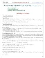 Hệ thống các dạng bài và phương pháp giải BT Lý 10