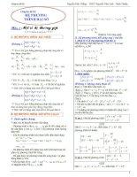 Chuyên đề Hệ Phương Trình Đại số luyện thi đại học cập nhật bản 2014 Nguyễn Đức Thắng