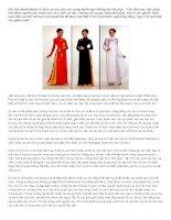 Bài văn thuyết minh về chiếc áo dài chọn lọc trong tuyển tập những bài văn hay