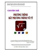 Chuyên đề Phương trình và bất phương trình vô tỉ luyện thi đại học cập nhật bản 2013 Nguyễn Đức Thắng