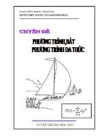 Chuyên đề Phương trình và bất phương trình đa thức luyện thi đại học cập nhật bản 2013 Nguyễn Đức Thắng
