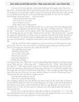 Phân tích ba khổ đầu bài thơ  Mùa xuân nho nhỏ  của Thanh Hải