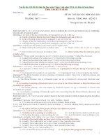Tuyển tập 120 đề thi thử đại học môn Tiếng Anh cực hay (có keys kèm theo) phần 1