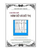 Chuyên đề Hàm số và đồ thị luyện thi đại học cập nhật bản 2014 Nguyễn Đức Thắng