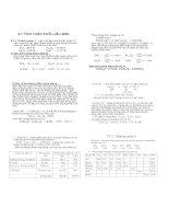 Bài tập tính toán phối liệu men