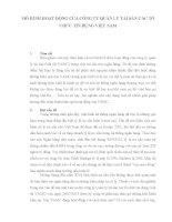 MÔ HÌNH HOẠT ĐỘNG CỦA CÔNG TY QUẢN LÝ TÀI SẢN CÁC TỔ CHỨC TÍN DỤNG VIỆT NAM