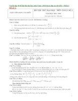 Tuyển tập 40 đề thi thử đại học môn toán  2014 phần 1